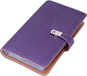 Name Card Book Holder Business Card Organizer for 240 Cards (Purple)