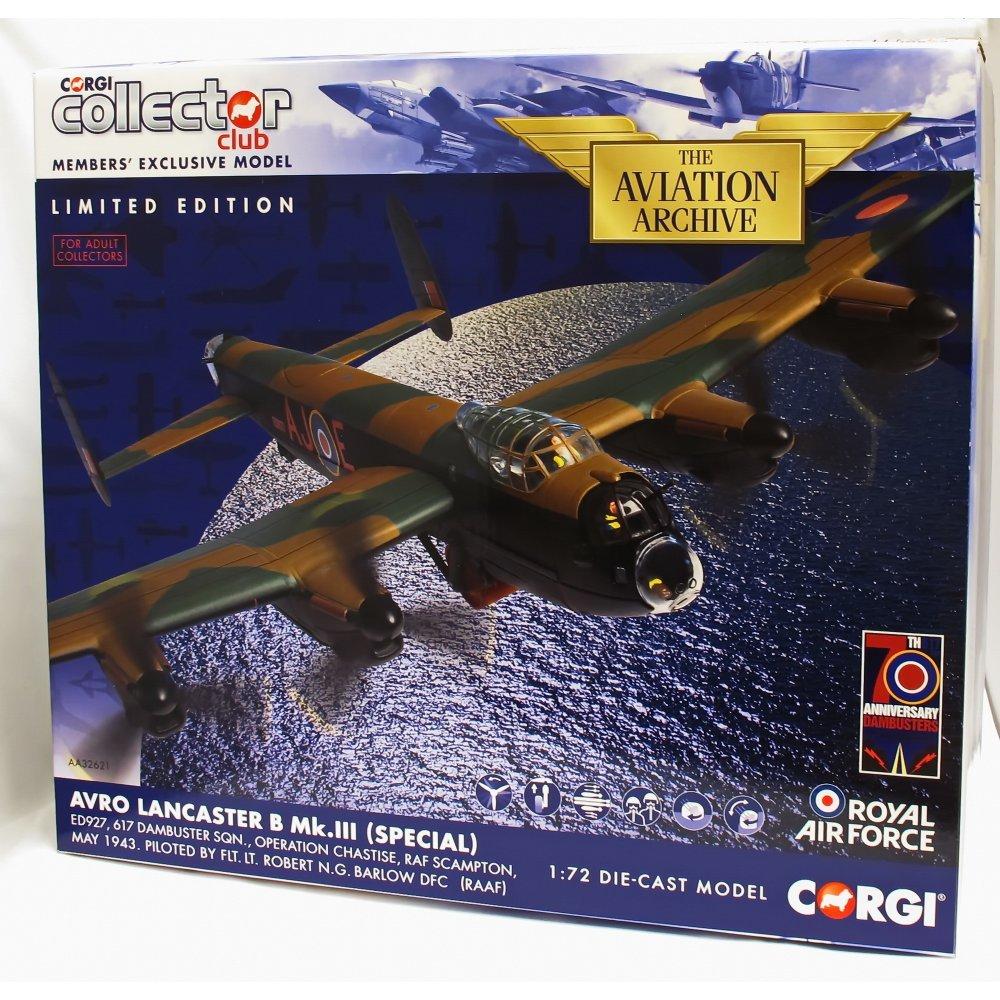 Corgi 1/72 AA32621 Avro Lancaster Mk3 ED927 Dambuster Sqn Op Chastise May 1943 B00S4UYZYU