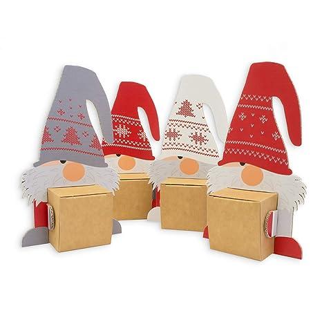 Geschenke Zu Weihnachten.Itenga Wichtelbande 4 Figuren Als Geschenk Oder Deko Weihnachten Deko Kleine Geschenke Wichteln Karte