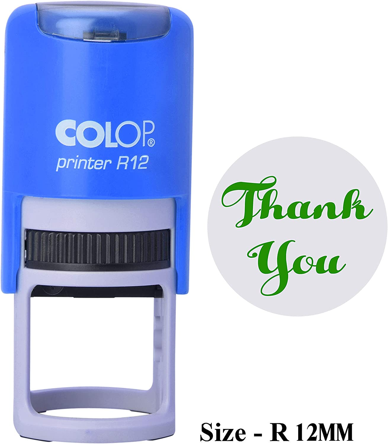 PrintValue E Text Self Inking Mini Round Stamp Colop R12 Teacher Rubber Stamp Office Stationary
