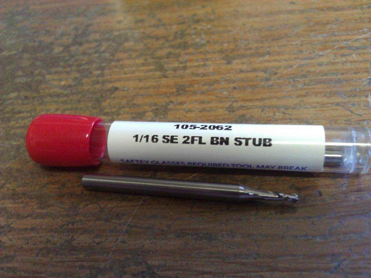 ".0625/"" 1//16/"" 2 FLUTE SINGLE END STUB LENGTH CARBIDE END MILL"