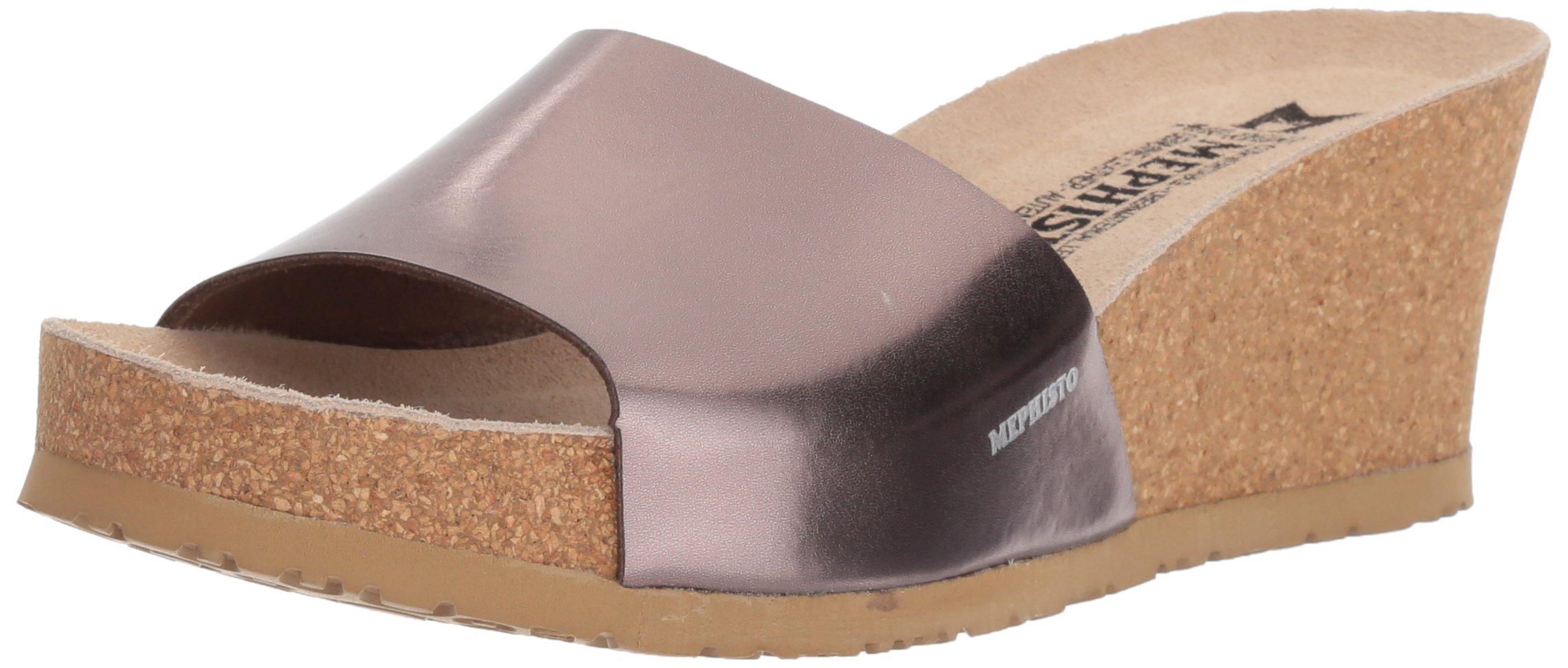 Mephisto Women's LISE Slide Sandal, Bronze, 7 M US
