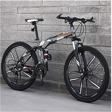 STRTG Unisex MontañA Bicicleta Plegable, Adultos Plegado Bike, Marco De Acero De Alto Carbono,24 * 26 Pulgadas Portátil Plegado Bike, 21 * 24 * 27 Velocidades Urbana Bicicletas: Amazon.es: Deportes y aire libre