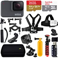 Navitech 9 in 1 Action Camera Accessory Combo Kit and Rugged Blue Storage Case Compatible with The AEDILYS 4K HD Action Camera