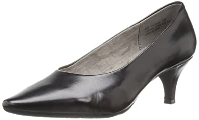 Aerosoles Women's Stardom Dress Pump, Black Leather, ...