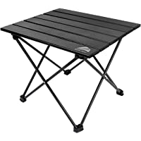"""BERSERKER OUTDOOR Portable Lightweight Camping Table Aluminum Folding Table Roll Up Beach Table with Carrying Bag for Backpacking, Cooking, Fishing, Pinic& Rustproof Durable(Medium, 22"""" x 16"""" x 16"""")"""