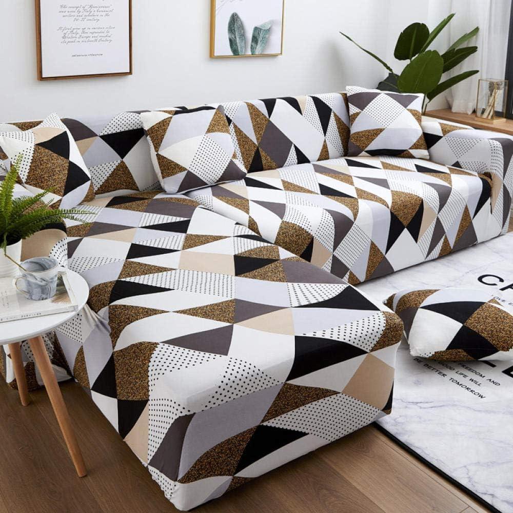 Noctiflorous Funda sofá Duplex,Fundas de sofá elásticas para Sala de Estar Sofá en Forma de L Slipcovers-5_2-Seat_and_4-Seat,Tejido elástica Cubiertas de sofá
