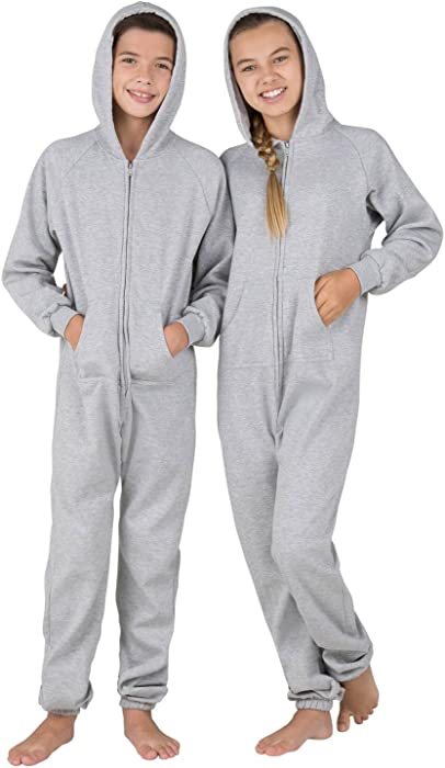 Amazon.com  Joggies - Laid-back Gray Kids Footless Hoodie Onesie ... 11f4ebf31