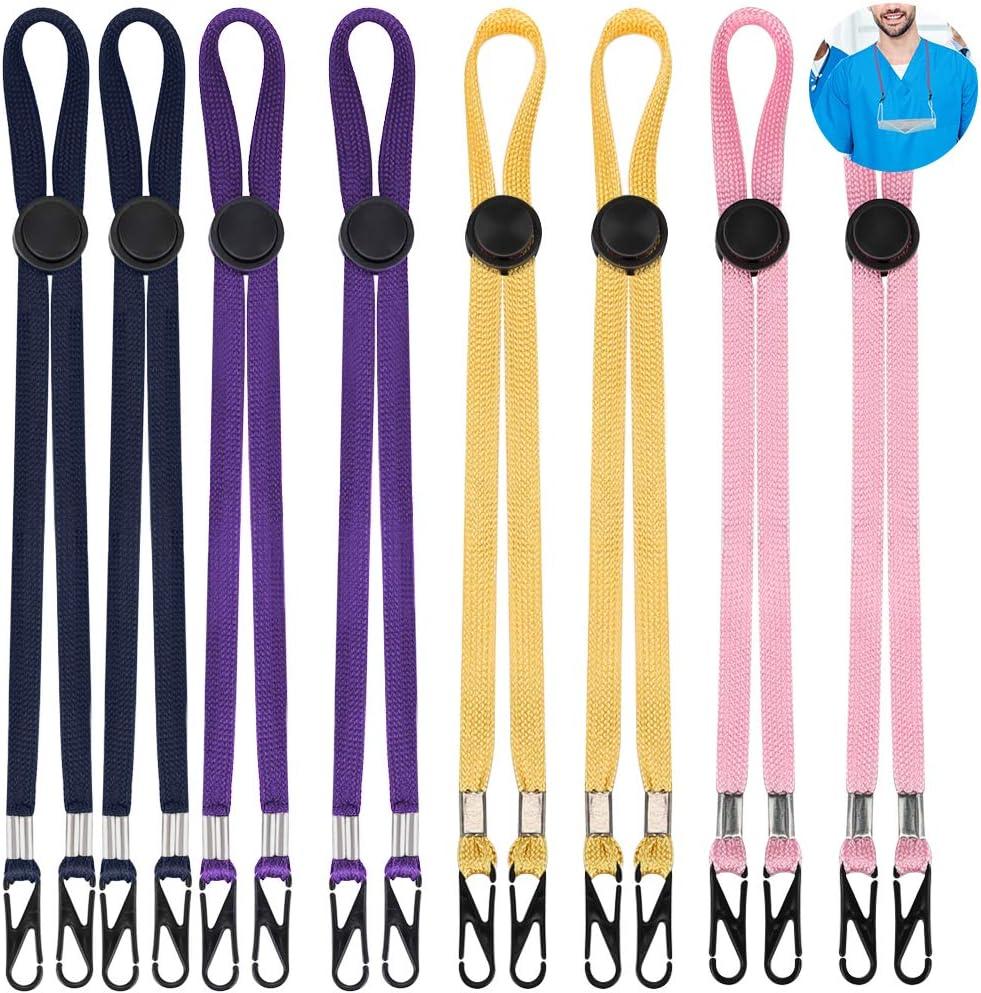 Cordones de Cubierta de Cara 8 Piezas Ajustable Clips de Soporte de Babero Facial Clips Flexibles de Babero Cordón de Sombrero de Pescador