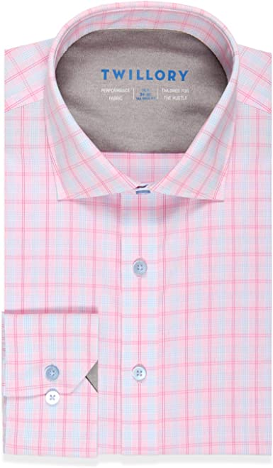 Twillory Performance - Camisa de vestir entallada con botones ...