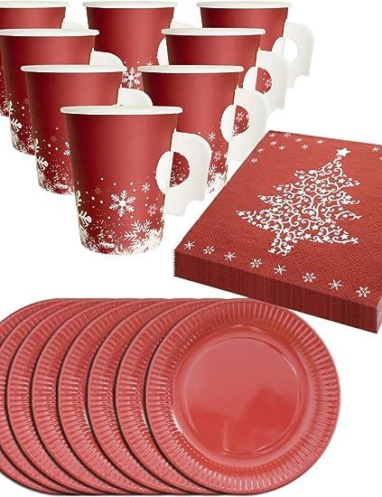 Tovaglioli A Forma Di Stella Di Natale.Home Tools Eu Natale Stoviglie Set 8 Persone Bicchieri Con