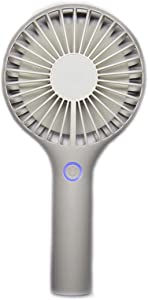 Upper Commerce Mini Handheld Fan. USB Rechargeable Portable Hand Fan. Multiple Speed Adjustable Modes. Fashionable 2019 Handheld Fan with Seven Blade Design. (White)