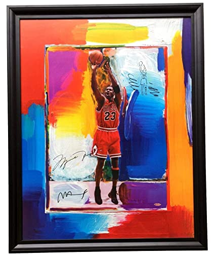 bd928f0b8a8 Michael Jordan   Peter Max Signed Framed Litho 28x36 w Remarque (LE ...