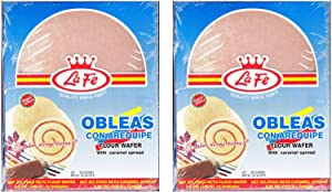La Fe Obleas Flour Wafers with Arequipe 7.7 oz