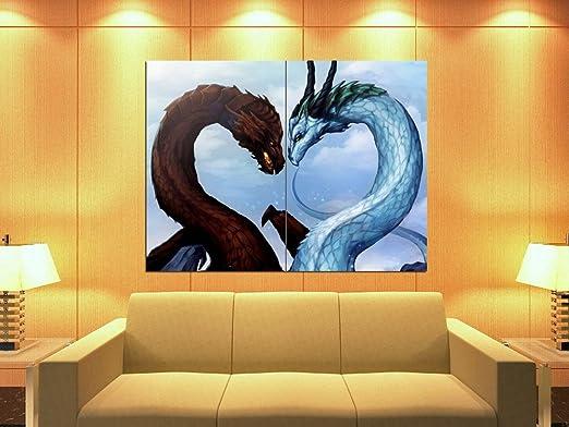 DRAGON FANTASY POSTER  ART IMAGE LARGE PRINT GIANT