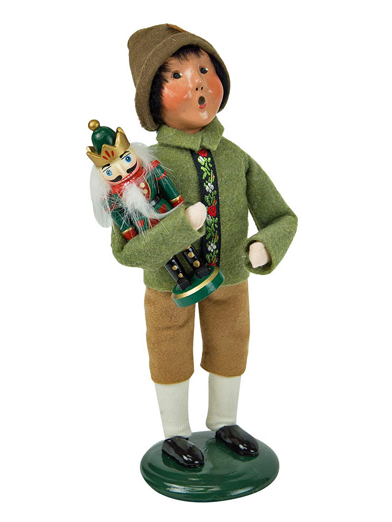 Holiday Figurines - Byers Choice - BOY with Nutcracker - New for Christmas 2018