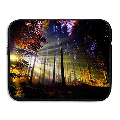 Business Briefcase Sleeve Fantasy Sunset Forest Laptop Sleeve Case Cover Handbag For Macbook Pro / Macbook Air / Asus / Dell / Lenovo / Hp / Samsung / Sony / Women & Men on sale