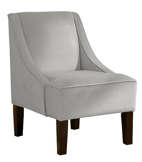 Groovy Skyline Furniture Swoop Arm Chair In Velvet Light Grey Forskolin Free Trial Chair Design Images Forskolin Free Trialorg