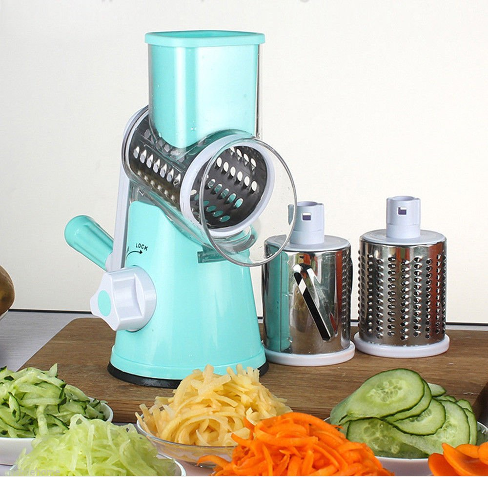 Round Mandoline Vegetable Slicer, Cheese Slicer and Grater
