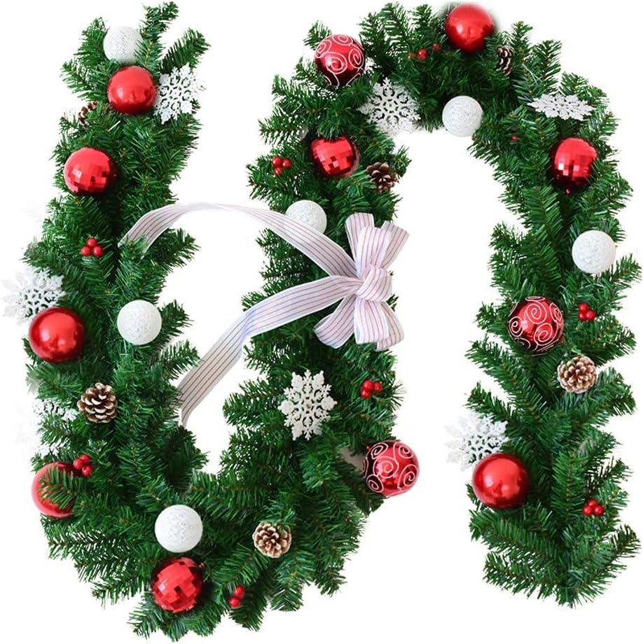 ZHongWei - Corona de Navidad Navidad de la Flor de la Vid, Navidad suministra 2,7 M Copo de Arco de la Navidad de la Rota Puerta Colgando de Bricolaje Decoraciones de Navidad Arboles de Navidad