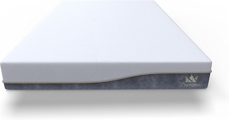 Supremus GrandBreeze Mattress 12-Inch Gel Memory Foam, Ultimate Quad Cooling Layers- CertiPUR-US Certified- 20 Years Warranty Twin