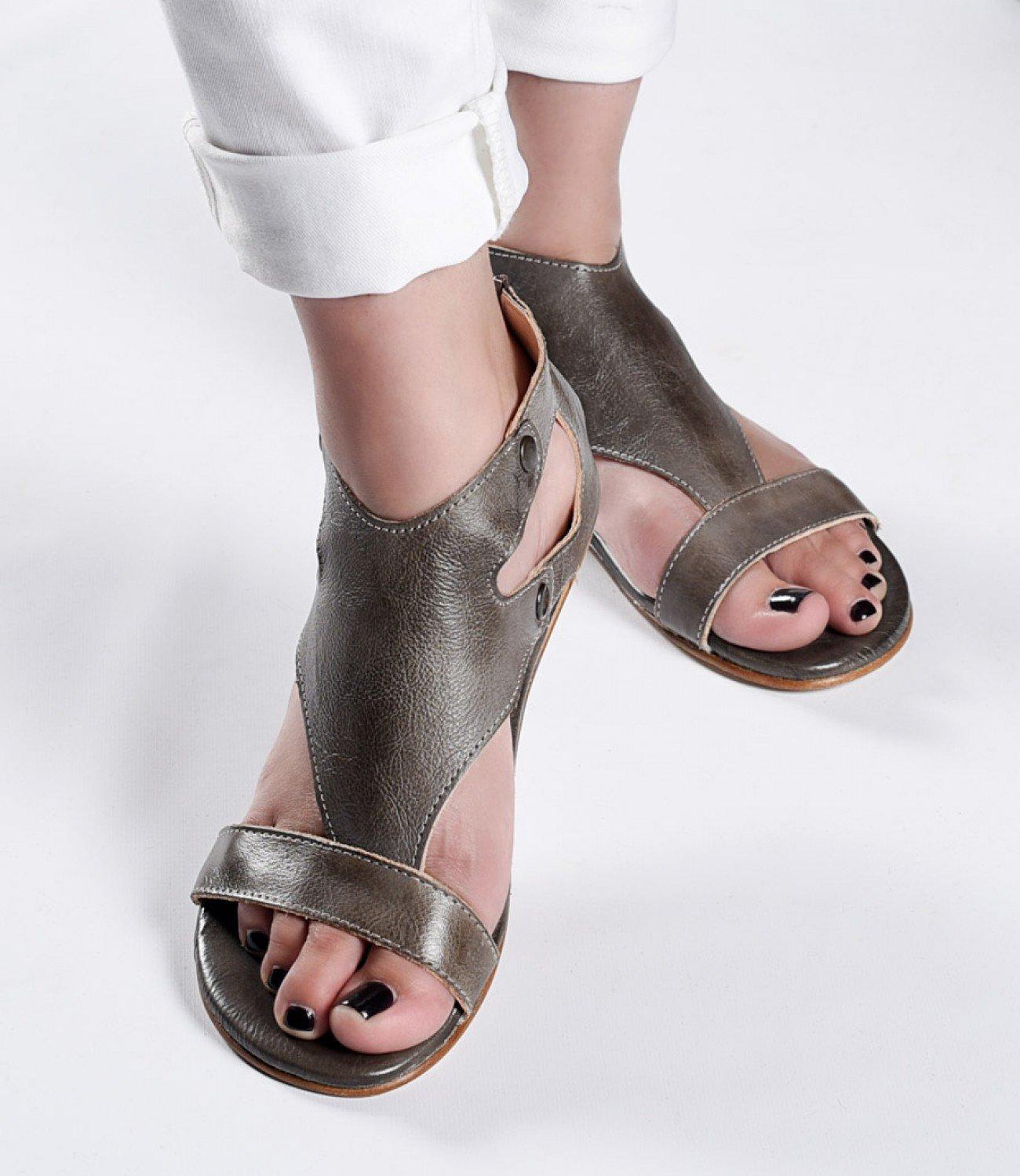 Bed Stu Women's Soto Leather Sandal B07CNWF78H 10 B(M) US Taupe Rustic