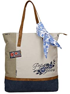 Bolso Shopper Pepe Jeans Yoga Azul: Amazon.es: Equipaje