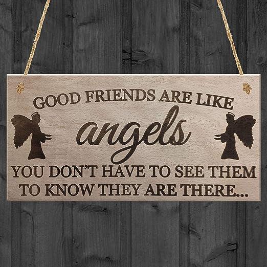 Shunry Good Friends Are Like Angels Colgar en la Pared ...