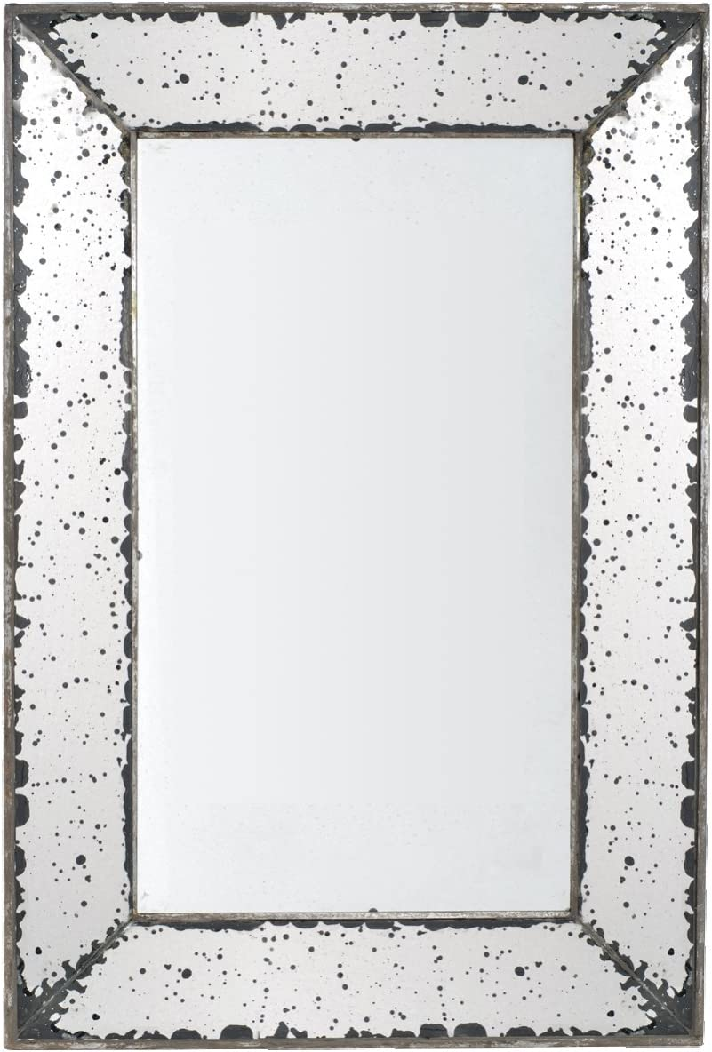 A B Home, 16.5 by 24-Inch Antique-Look Frameless Wall Mirror