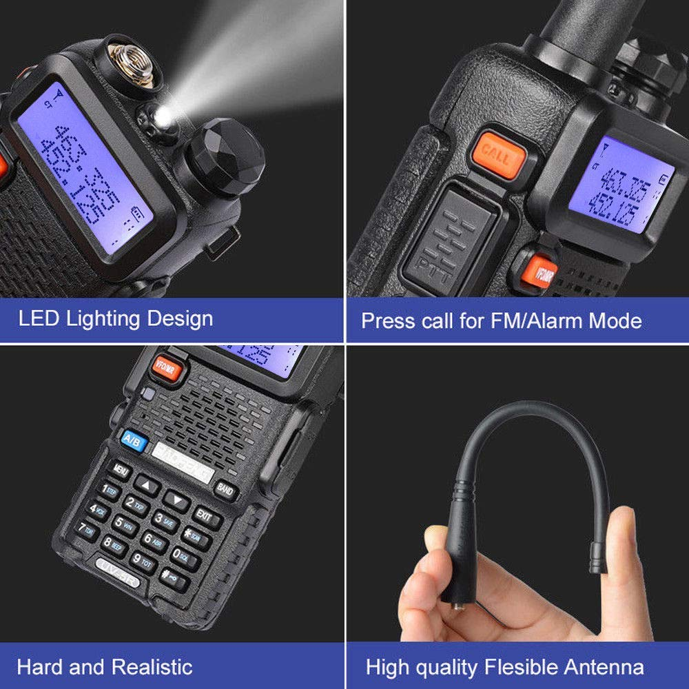 LDJC Walkie-Talkie, Portable Walkie-Talkie 8W High Power Voltage 7.2V DC 1800MAH Lithium Battery Frequency Stability 2.5PPM by LDJC (Image #3)