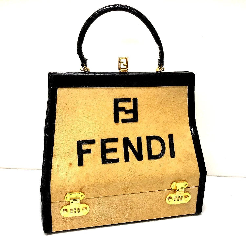 (フェンディ) FENDI ロゴ バニティバッグ トートバッグ ハンドバッグ レザー/パテントレザー レディース 中古 B079VDZQ3W