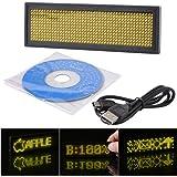 XCSOURCE® Programable LED Amarillo Desplazamiento Insignia Conocida Tag Mover Mensaje Display Regístrate Junta LD421
