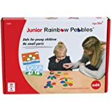edxeducation-13209 Junior Rainbow Pebbles Activity Set - Includes 16 Activities - Ages 18M+ - Sorting and Stacking Stones - E