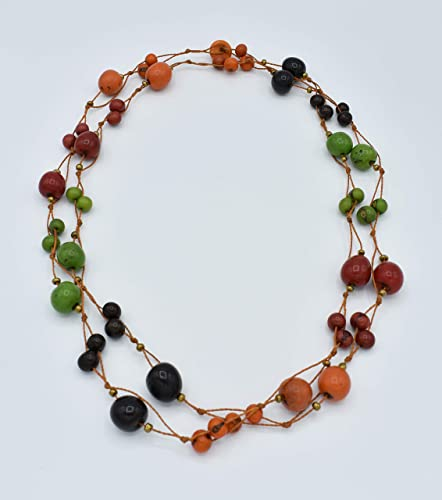Acai, Pambil and Tagua Nut Necklace