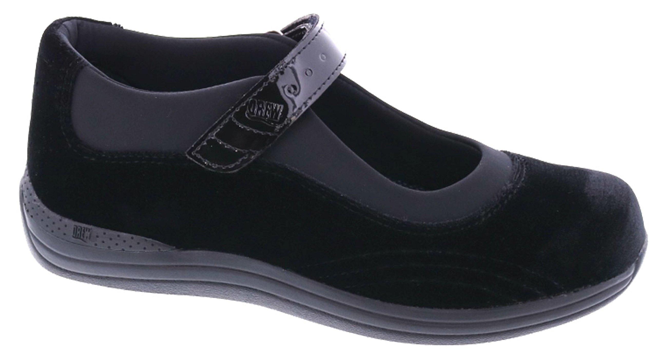 Drew Shoes Rose Women's Therapeutic Diabetic Extra Depth Shoe: Black/Velvet 11.0 X-Wide (2E) Velcro