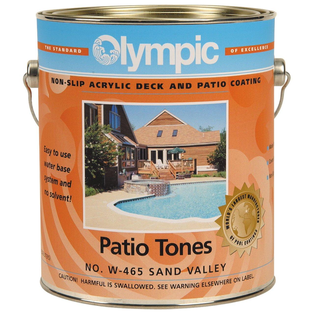 Amazon.com : Olympic Patio Tones Deck Coatings Sand Valley   1 Gallon :  Swimming Pool Deck Protective Coatings : Garden U0026 Outdoor