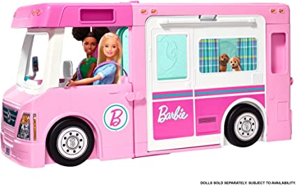 Amazon.com: Barbie 3-in-1 DreamCamper Vehicle, approx. 3-ft