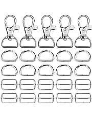 e841f78caaf5c6 Hysagtek 60 pezzi di metallo Keychain Bulk – girevole moschettoni