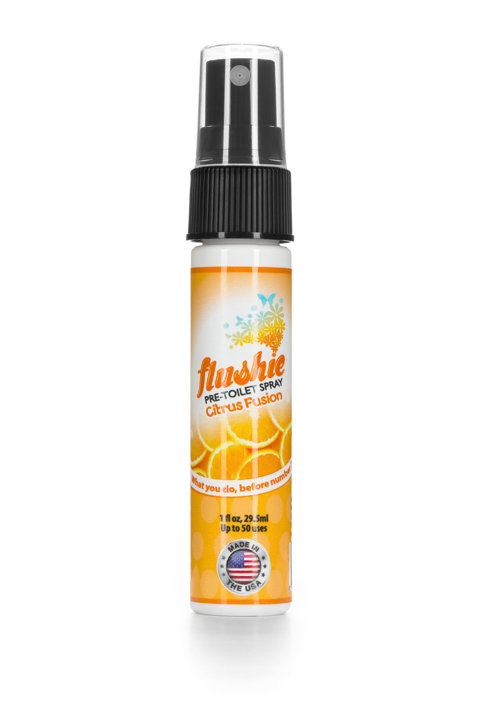 Flushie Pre-Toilet Spray 1- Ounce Travel Size (4pack- citrus, linen, lavender, unscented), Toilet Spray, Bathroom Deodorizer, Poop Spray, Before You Go Spray, Perfect For Travel, Fits In Any Purse by Flushie Pre-Toilet Sprays (Image #2)