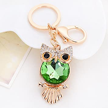 Image Unavailable. Image not available for. Color  Womens Rhinestone Owl  Keychain ... 09eaa2296