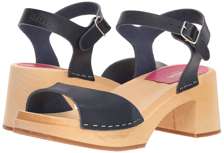 454490a361 Amazon.com   swedish hasbeens Women's Mia Heeled Sandal   Mules & Clogs