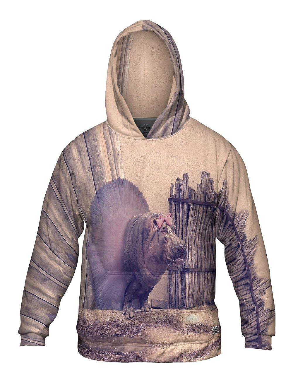 Allover Print Yizzam Ballerina Hippo Mens Hoodie Sweater