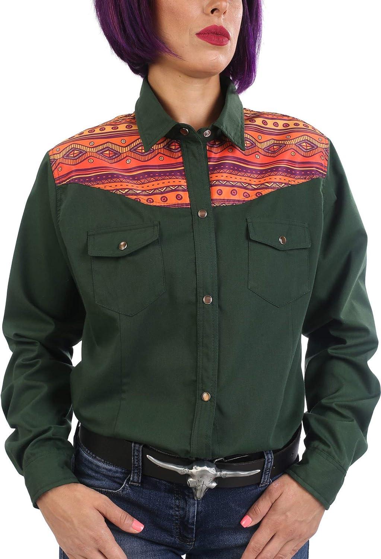 Last Rebels Country Line Dance - Camisa para Mujer, diseño Indio Americano, Color Verde: Amazon.es: Ropa y accesorios