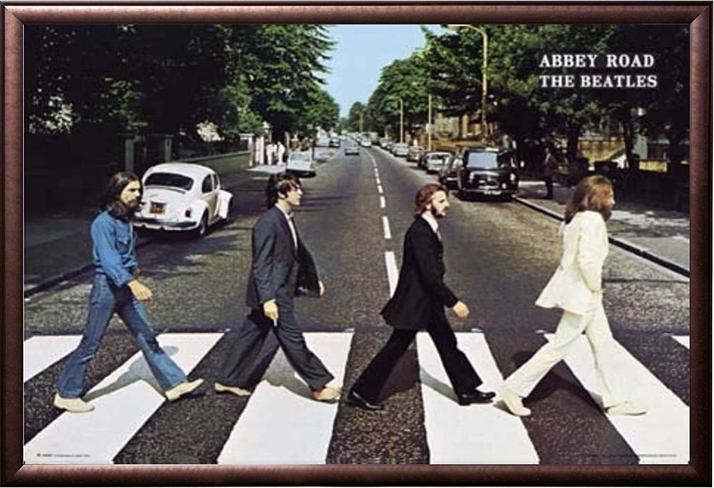 Abbey Road 24x36 Wood Framed Poster Art Photo Beatles