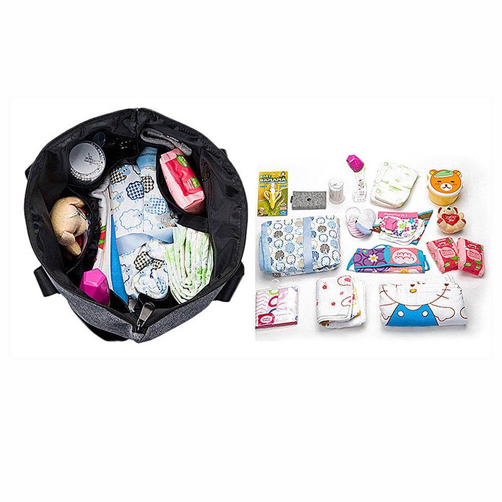 Wickeltasche Baby Kinderwagen Befestigung Vintage Ger/äumig Mama Windel Tasche Handtasche f/ür Unterwegs Wasserdicht