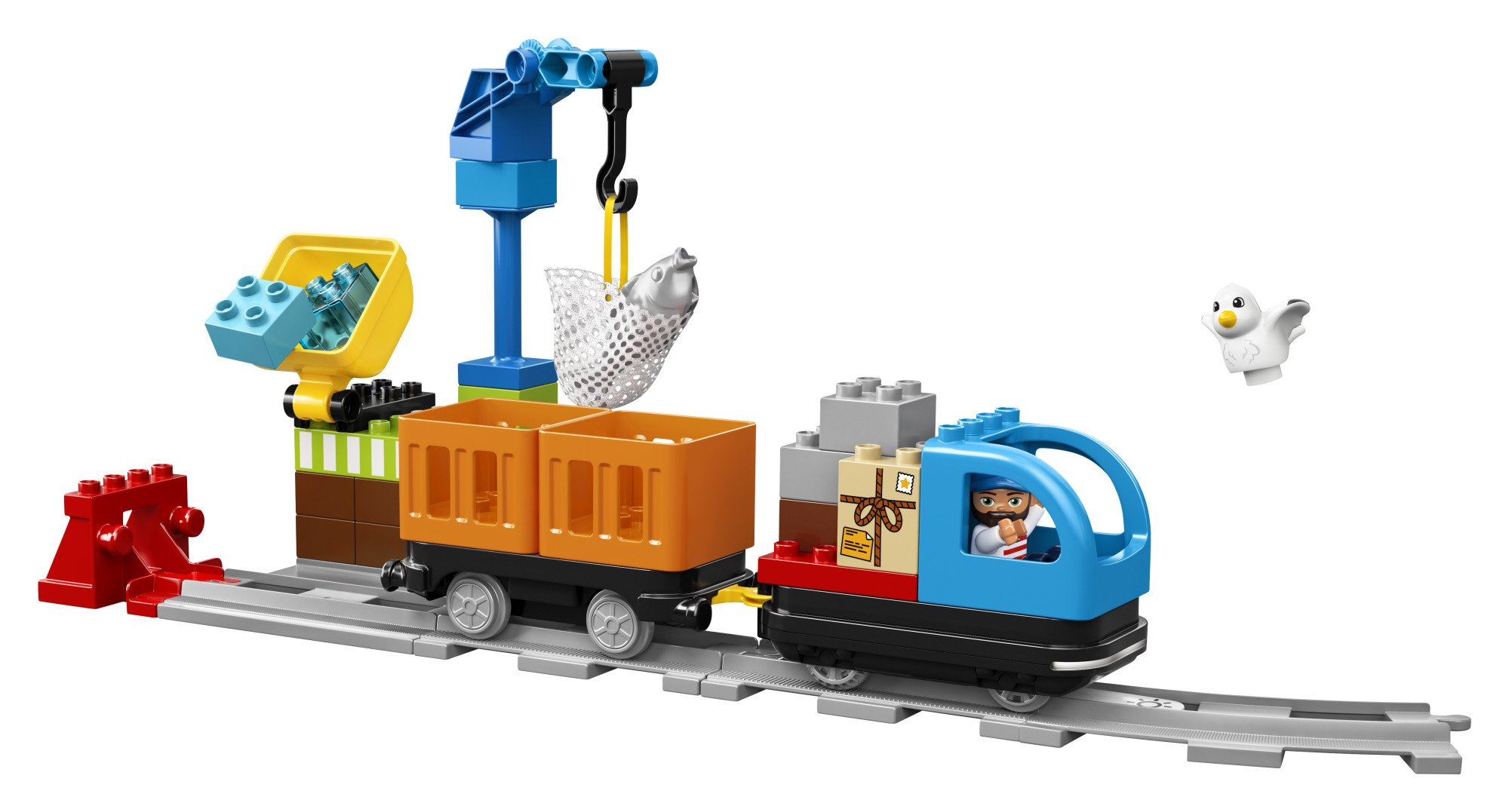 LEGO DUPLO Cargo Train 10875 Battery-Operated Building Blocks Set, Best Engineering and STEM Toy for Toddlers (105 Pieces) (Amazon Exclusive) by LEGO DUPLO Trains (Image #6)