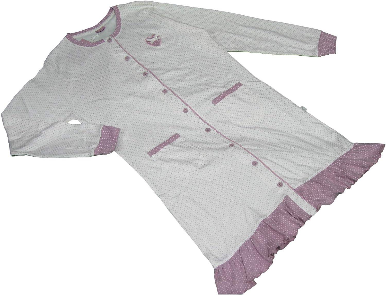 Ruso Tejidos Camisa de Noche Pijama Mujer Algodón Malva ...