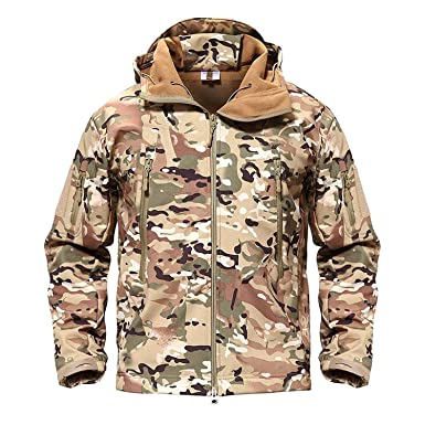ad0a242231ebc Image Unavailable. Image not available for. Color: Army Camouflage Men  Jacket Coat Winter Waterproof Jackets ...