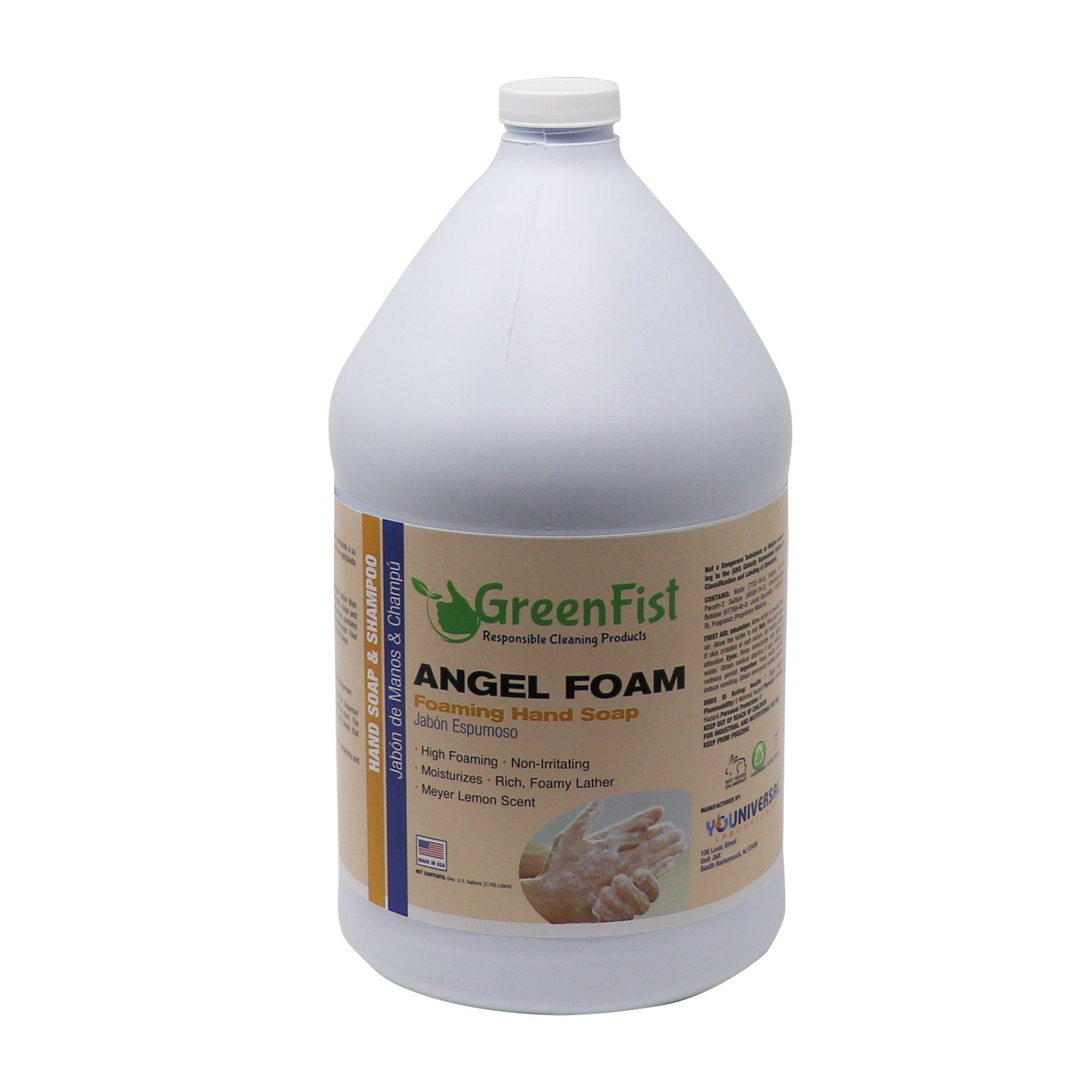 GreenFist Foaming Hand Washing Soap Refill Angel [ Foam ] Lemon Scent 4 Gallons (4x1)
