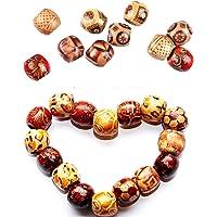 300 Stuks Printed Wood Beads Macrame Houten Kralen Houten Bedrukte Kralen Diy Bedrukte Kralen Wooden Beads For…